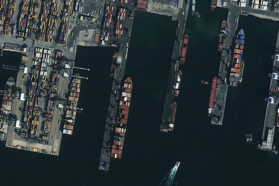 Satellite image of Istanbul port